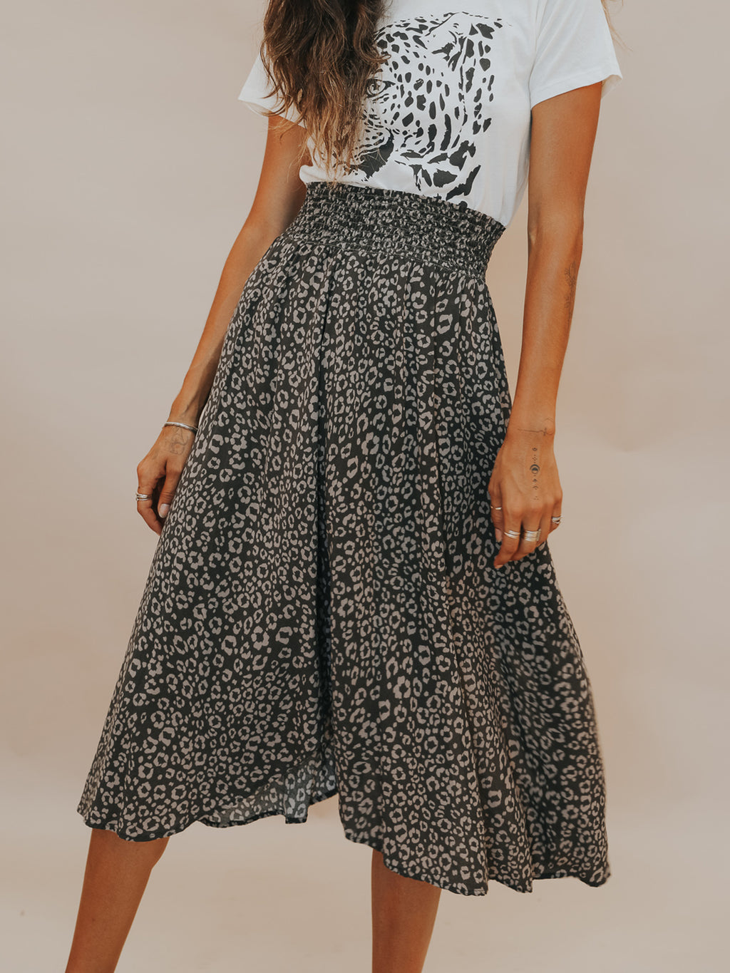 Leopard Midi Skirt - Stitch And Feather