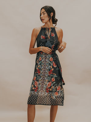 Shimmer On Midi Dress - Stitch And Feather