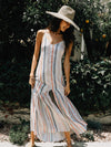 Late Checkout Button Down Maxi - Stitch And Feather