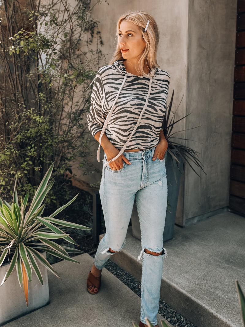 Gettin' Wild Cropped Sweater - Stitch And Feather