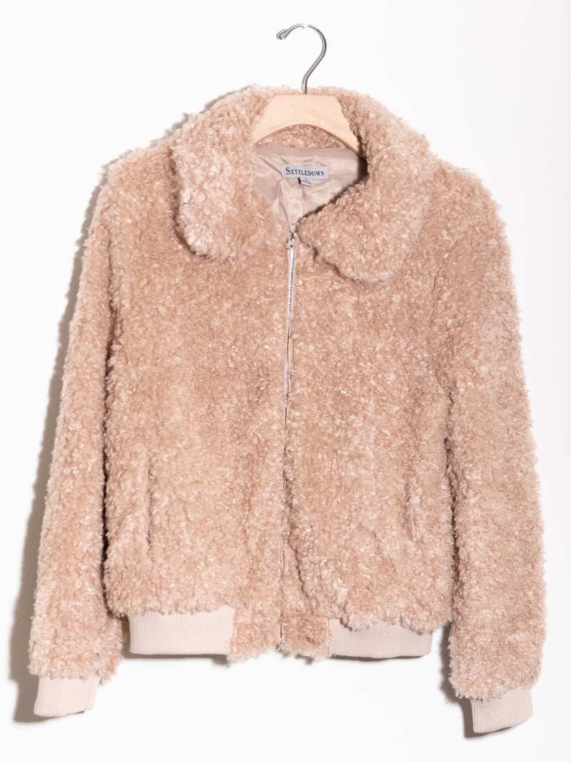 Bad To The Bones Fur Bomber Jacket