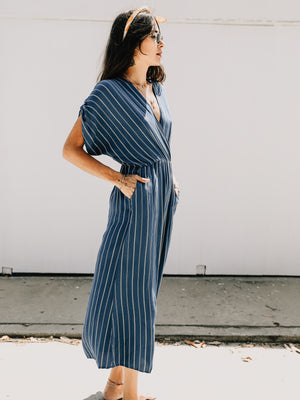 Garment Washed Jumpsuit - Stitch And Feather