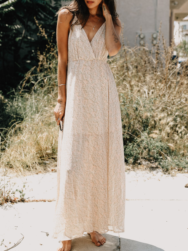 Cross Back Maxi Dress - Stitch And Feather