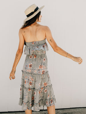 Bellissa Strapless Midi - Stitch And Feather