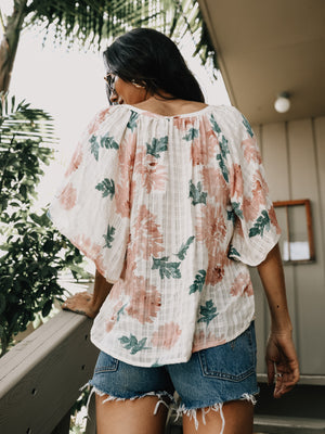 Peony Sage Top - Stitch And Feather