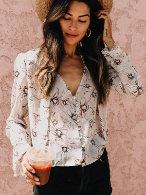 Lily Button-Down Blouse - Stitch And Feather