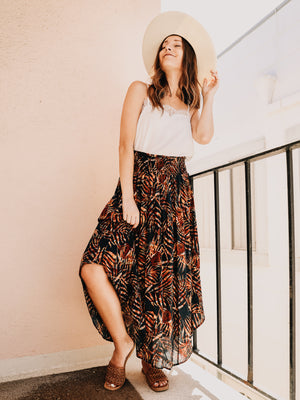 Belize Tropical Midi Skirt - Stitch And Feather