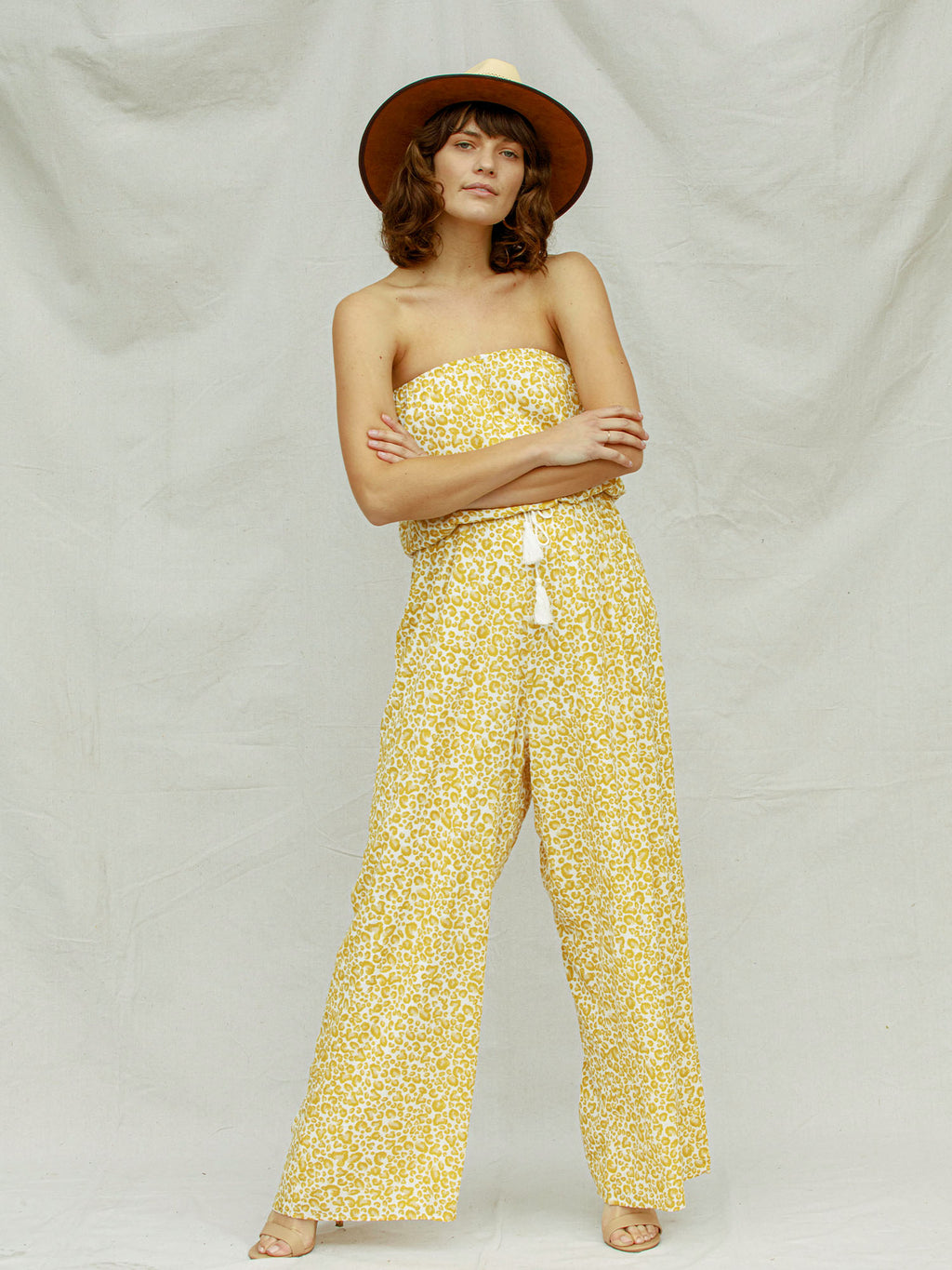 Moroccan Days Jumpsuit in Yellow Leo - Stitch And Feather
