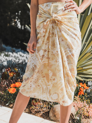 Sunshine Tie Dye Midi Skirt - Stitch And Feather