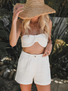 La Jolla Linen Crop Top - Stitch And Feather