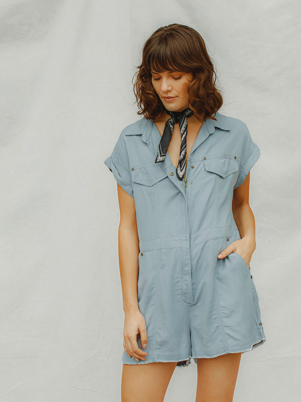 Into the Blue Romper - Stitch And Feather