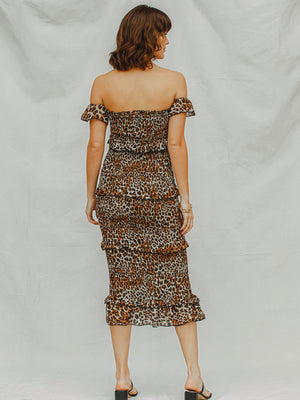 Izzy Smocked Leopard Maxi - Stitch And Feather