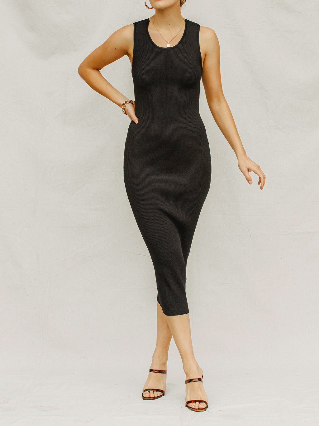 Can't Forget You Ribbed Midi Dress - Stitch And Feather