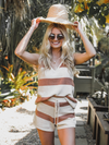 Logan Striped Tank in Cream - Stitch And Feather