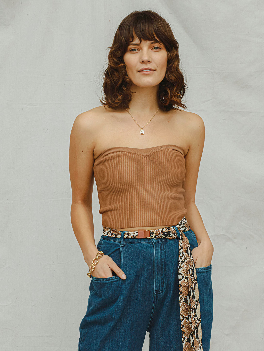Kassandra Ribbed Crop Top - Stitch And Feather