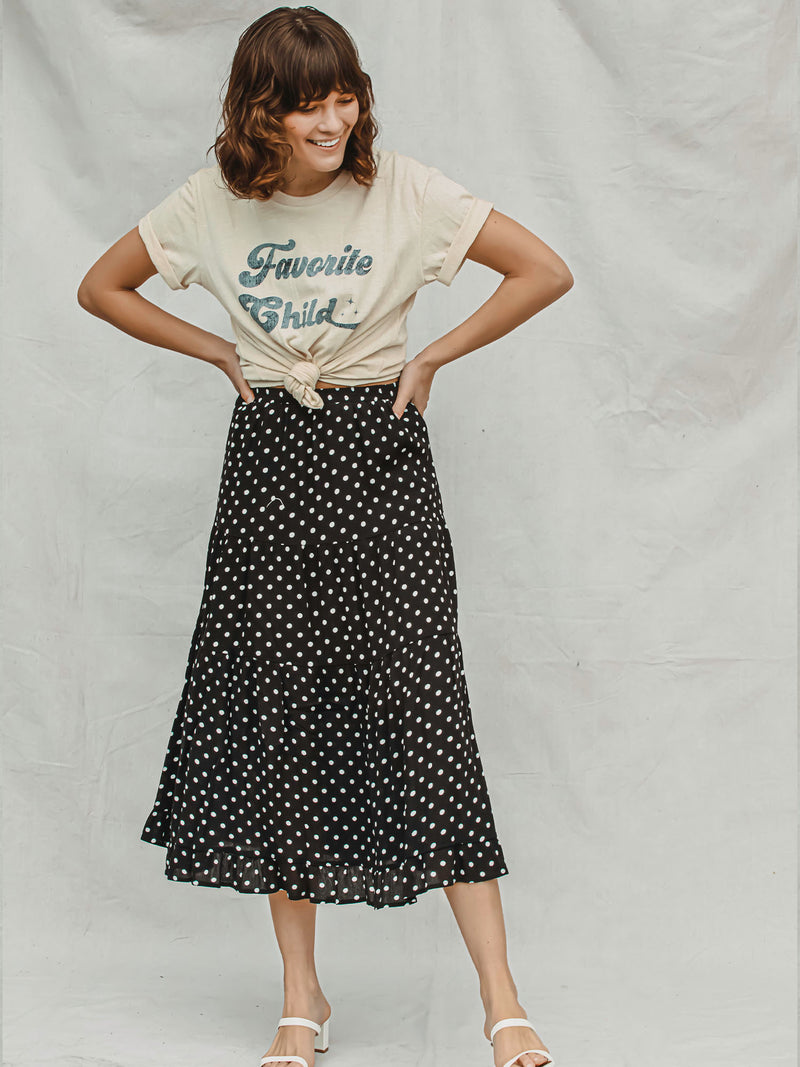 Spot in My Heart Midi Skirt - Stitch And Feather