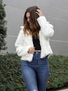 White Hot Fur Jacket - Stitch And Feather