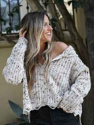 Mocha Zip-Up - Stitch And Feather