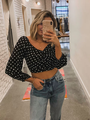 Spot in My Heart Crop Top - Stitch And Feather