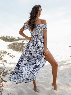 Palm Maxi Dress - Stitch And Feather
