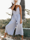 Strappy Stripe Jumpsuit - Stitch And Feather