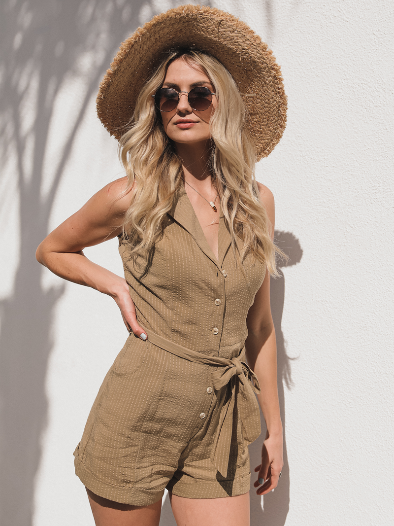 Napa Sage Romper - Stitch And Feather