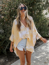 Teagan Tie Dye Top in Yellow - Stitch And Feather