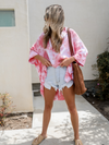 Teagan Tie Dye Top in Pink - Stitch And Feather