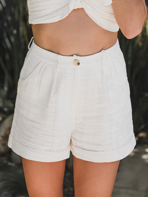 La Jolla Linen Shorts - Stitch And Feather
