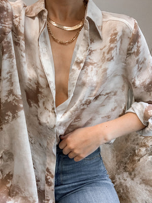 Finders Keepers Blouse in Taupe - Stitch And Feather