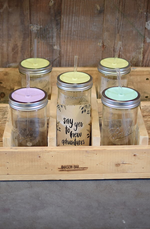 24 oz Mason Jar Tumbler - Stitch And Feather