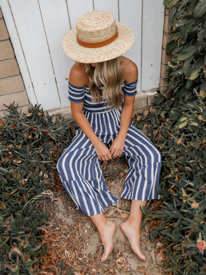 Anchors Aweigh Jumpsuit - Stitch And Feather