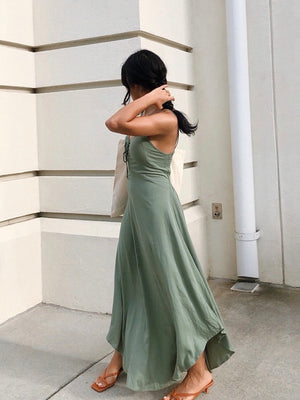 Sawyer Maxi Dress in Green - Stitch And Feather