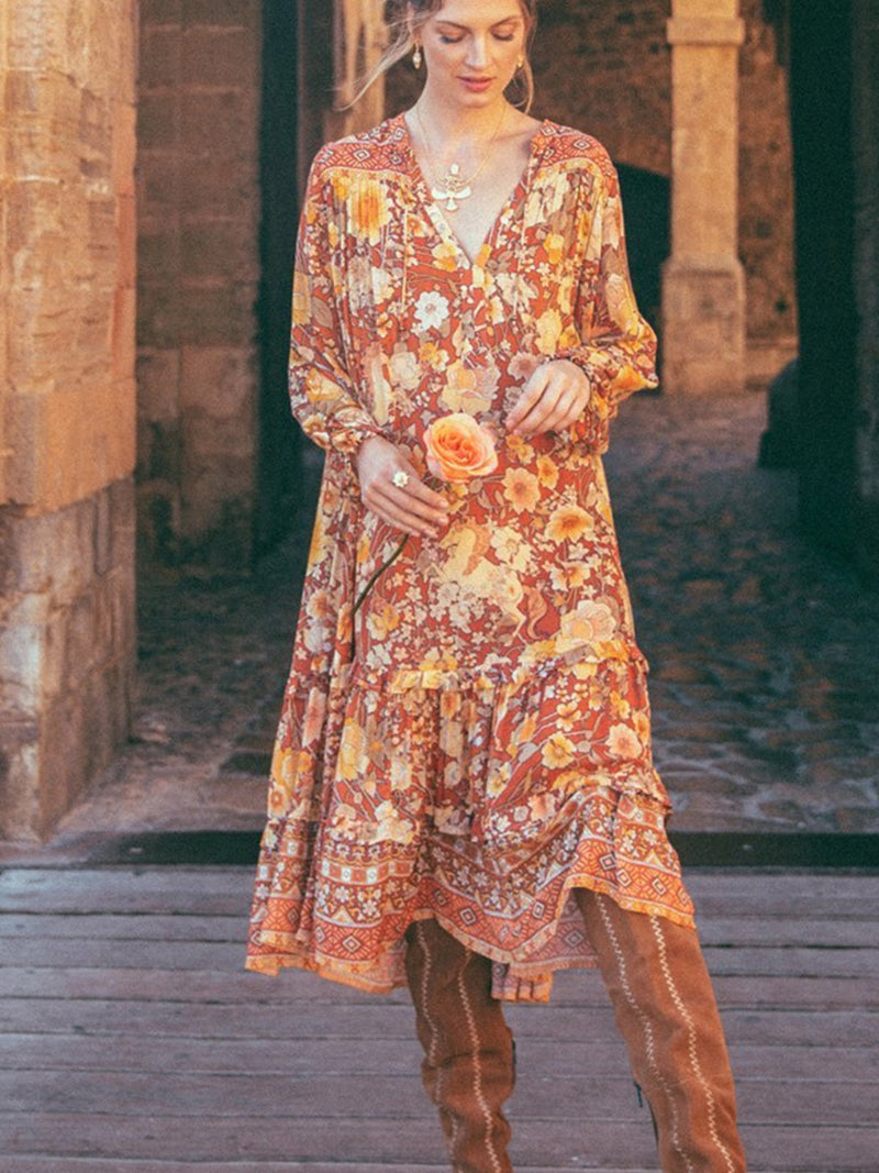 Amethyst Boho Dress in Amber