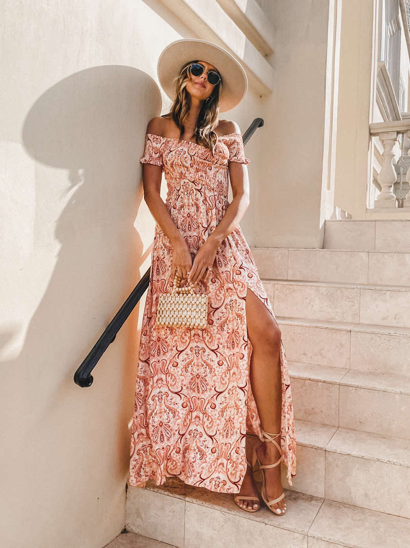 Cherie Paisley Maxi Dress - Stitch And Feather