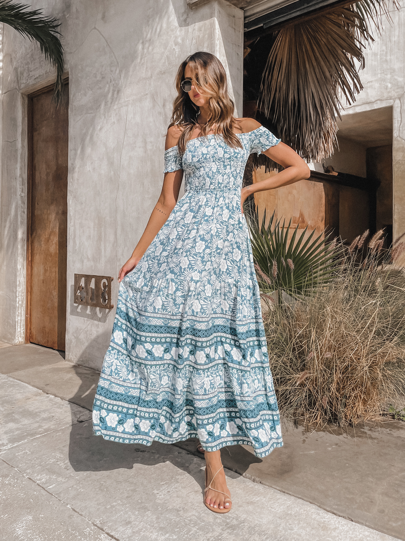 Lana Floral Maxi Dress - Stitch And Feather
