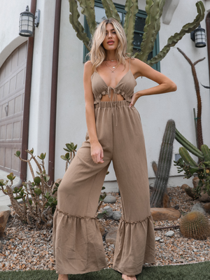 Part Time Lover Jumpsuit - Stitch And Feather