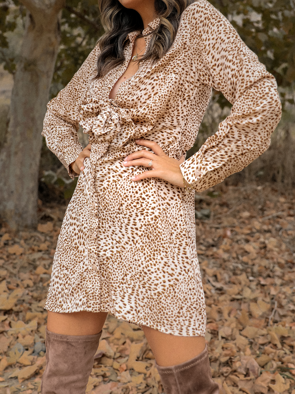 Katherine Mini Dress in Sand - Stitch And Feather