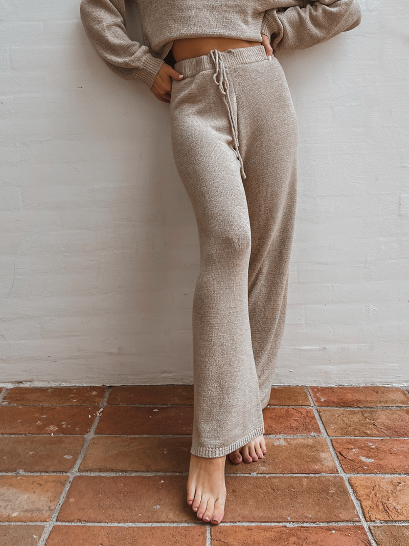 Homebody Knit Pants in Oatmeal - Stitch And Feather