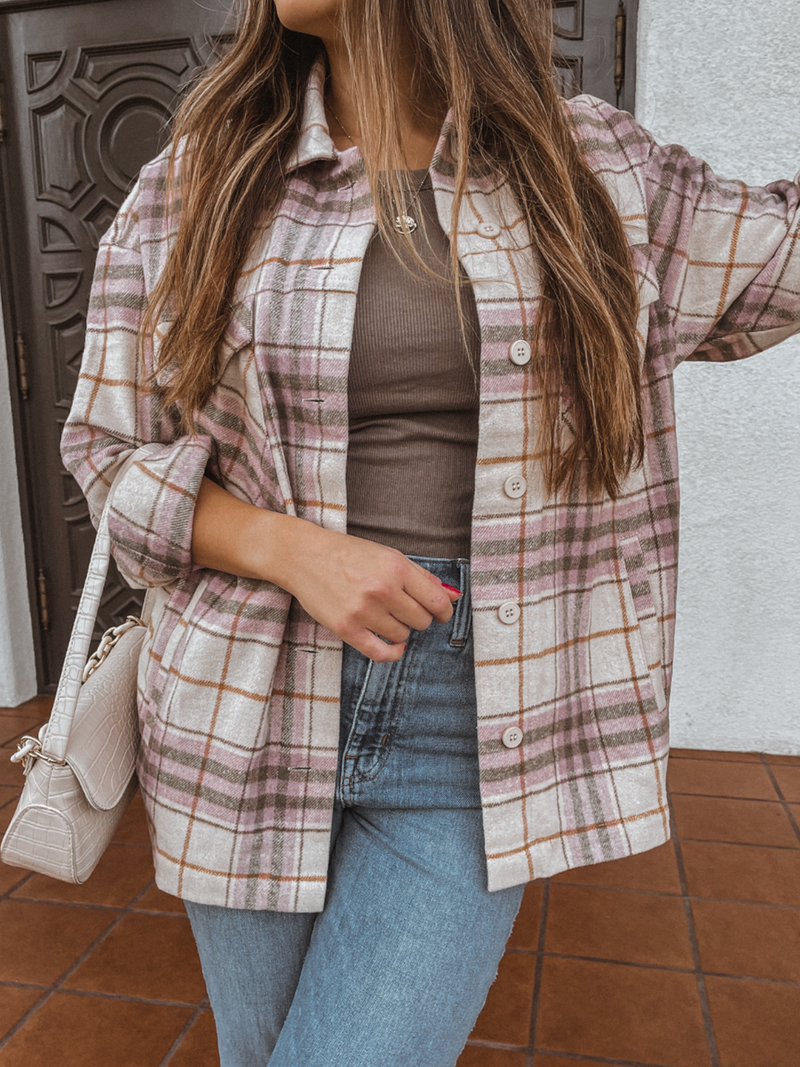 Carpe Diem Plaid Shacket - Stitch And Feather