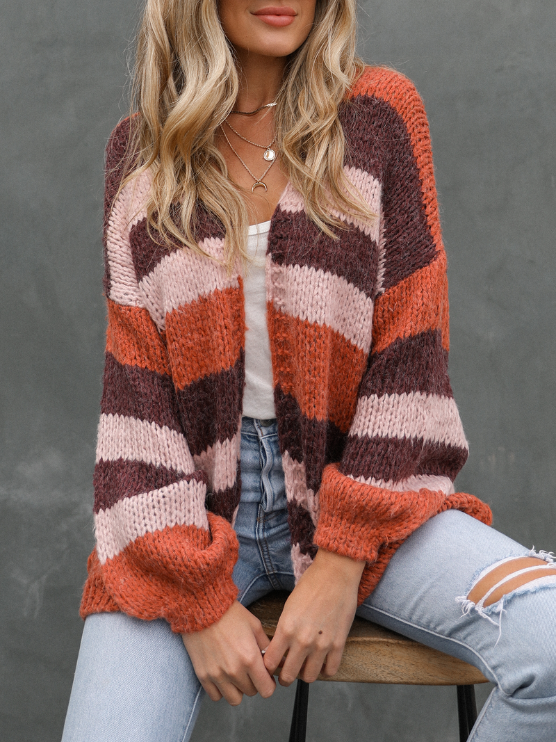 Sedona Stripe Knit Cardigan - Stitch And Feather