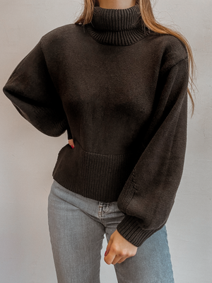 Knit Open Back Sweater - Stitch And Feather