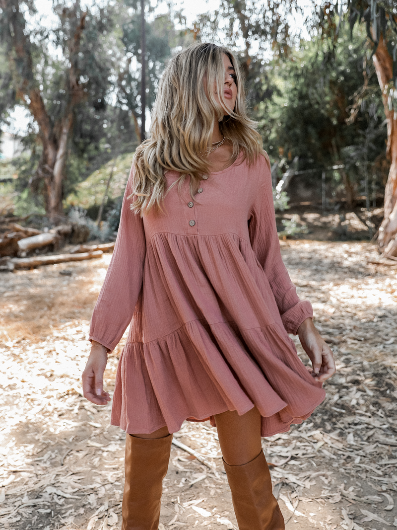 Hanna Mini Dress - Stitch And Feather