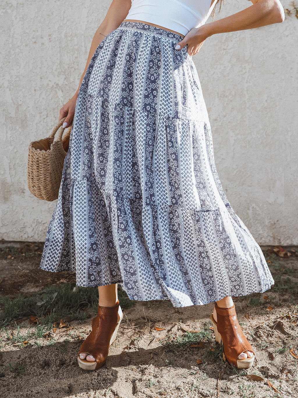 Villa Del Sol Midi Skirt - Stitch And Feather