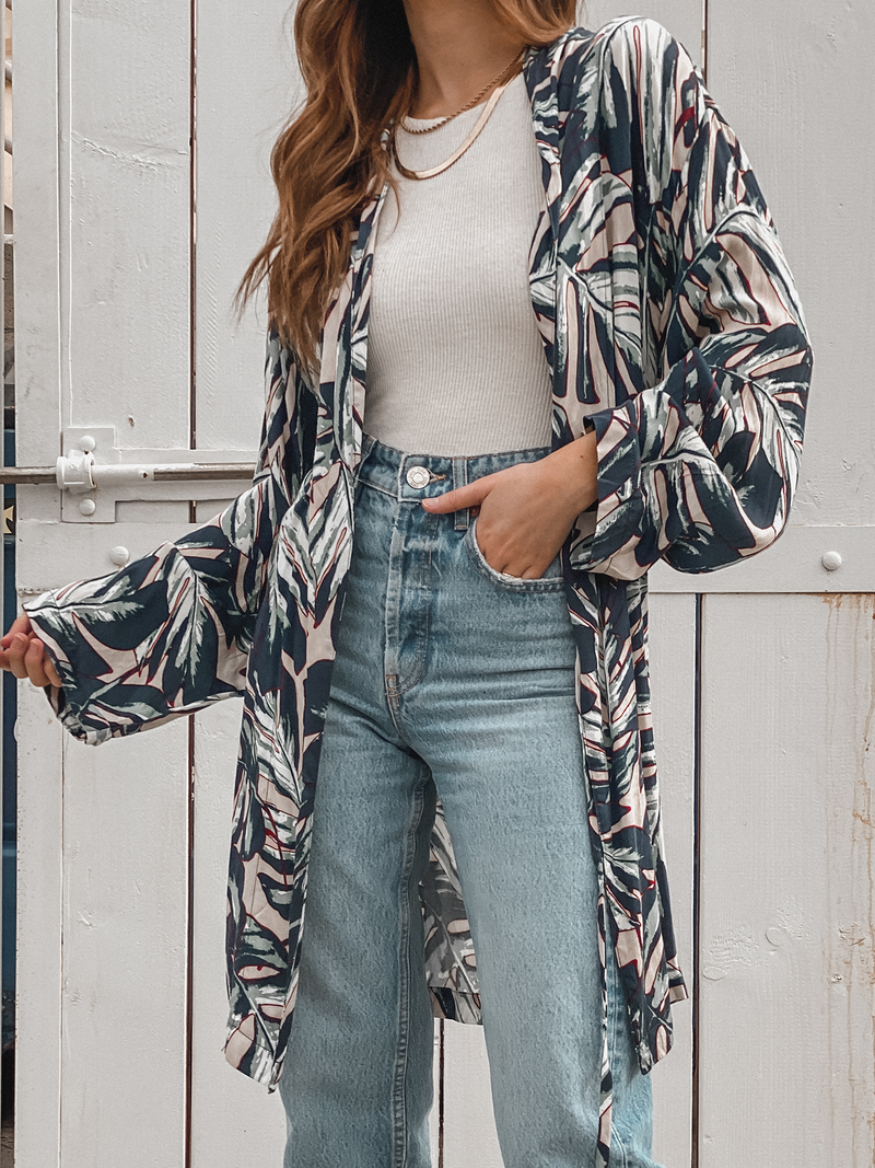 Tropics Wrap Kimono - Stitch And Feather
