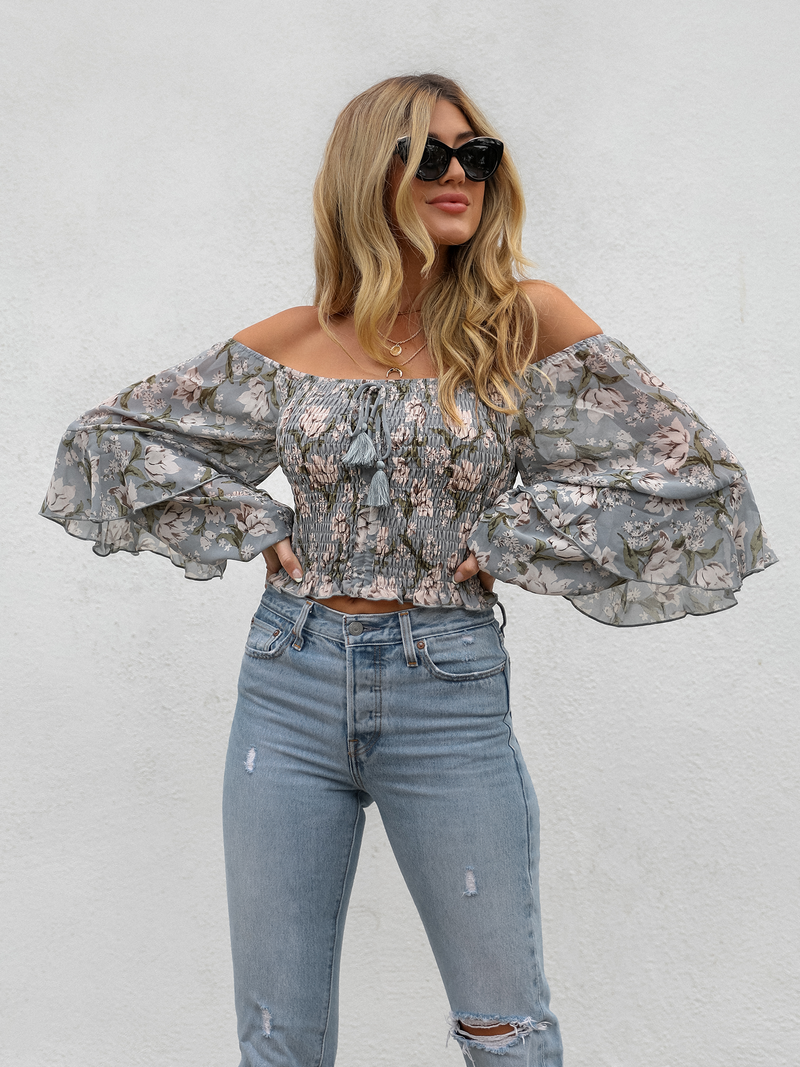 Better Off Floral Crop Top - Stitch And Feather