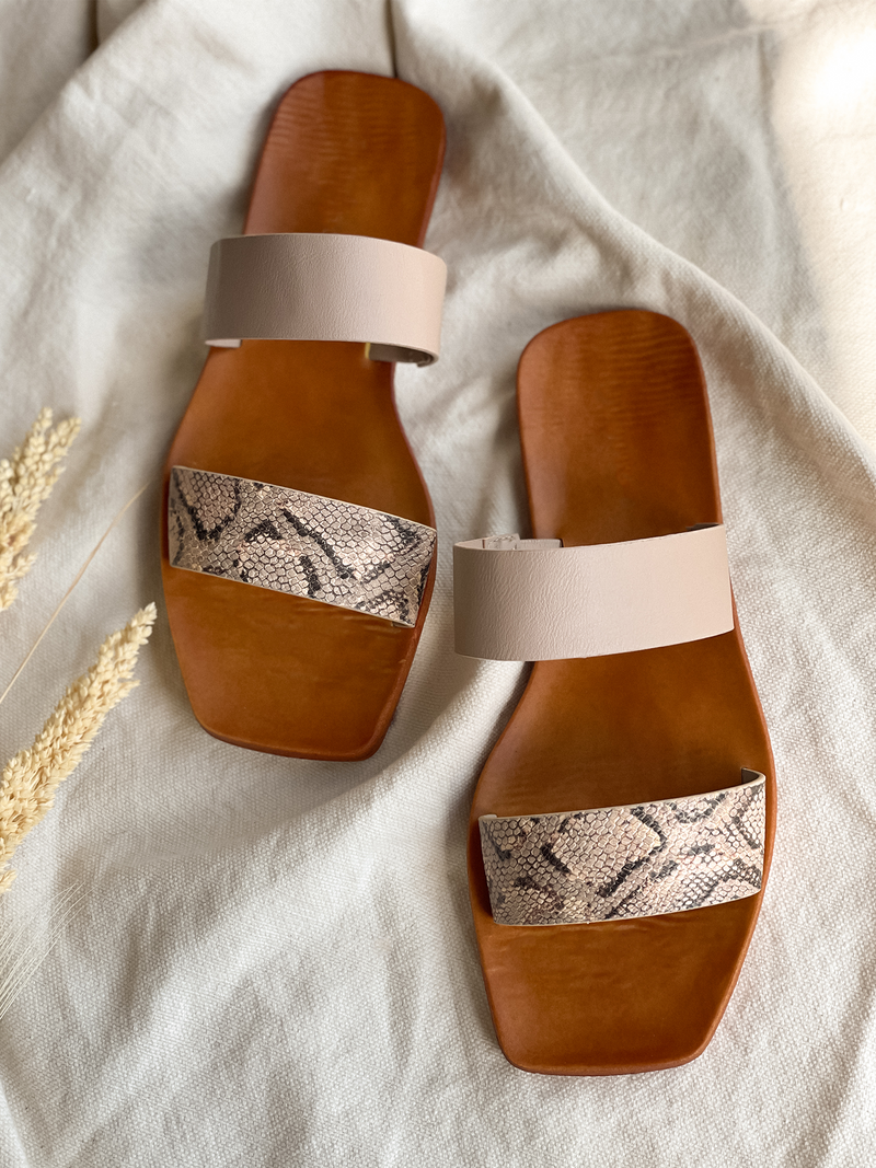 Earth Dance Sandal in Snake - Stitch And Feather