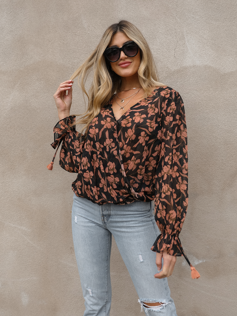 Forever Yours Floral Blouse - Stitch And Feather