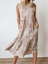 Kegan Tiered Midi Dress - Stitch And Feather