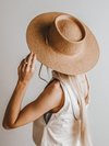 Aiden Straw Hat in Natural - Stitch And Feather